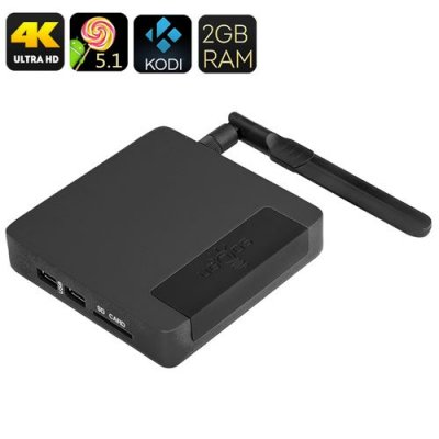 Ugoos AM1 Android TV Box - Amlogic S905 SoC, 2GB RAM, Mali GPU, Kodi 16, UHD 4K, Android 9.1, Wi-Fi