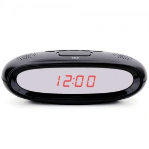 Full HD 1080P Hidden Spy Alarm Clock Camera with Photo Taking + Motion Detecting