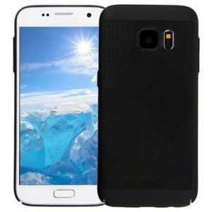Case for Samsung S7 Heat Dissipation Ultra-Thin Frosted Back Cover Solid - BLACK