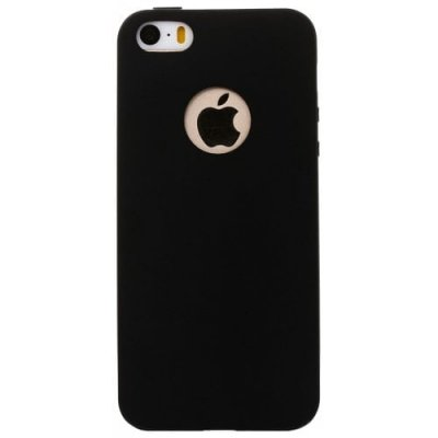 ASLING Ultra-thin Back Case Protector for iPhone 5 - 5S - SE TPU Material - BLACK