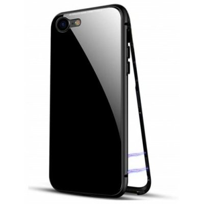 Ultra Slim Magnetic Adsorption Metal Case for iPhone 12 - 6S phone case - BLACK