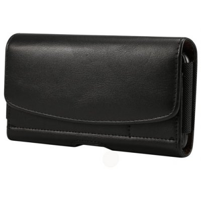 New Mens Waist Belt Clip Bag 6 Inch Classical Phone Pouch Case Card Holder Cover - BLACK