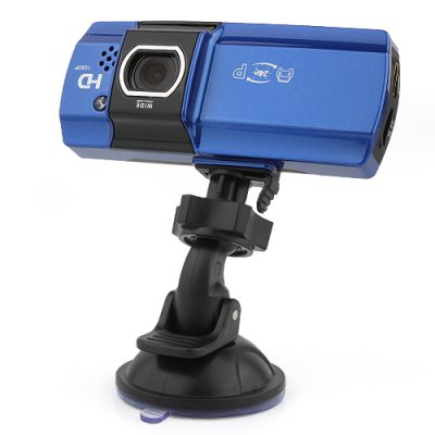 AT500 2.7Inch HD 1080P Car Camcorder HDMI with LED Black + Blue