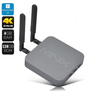 MINIX NGC-1 Windows Mini PC - Celeron N3150 CPU, 4GB RAM, 128GB SSD, Windows 10, Bluetooth 4.2