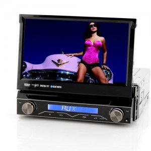 "7 Inch Touch Screen Car DVD Player ""Passion"" - Flip-Out Display, Detachable Front Panel, Bluetooth (1 DIN)"