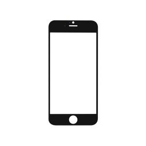 iPhone 6 Glass Lens Screen - Black