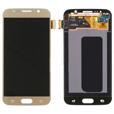 LCD Screen with Digitizer Assembly Replacement for Samsung Galaxy S6 - GOLD