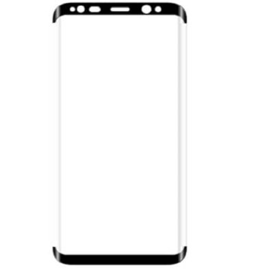 Curved Tempered Glass Protective Film for Samsung S8 (Straight Side No Windows) - BLACK