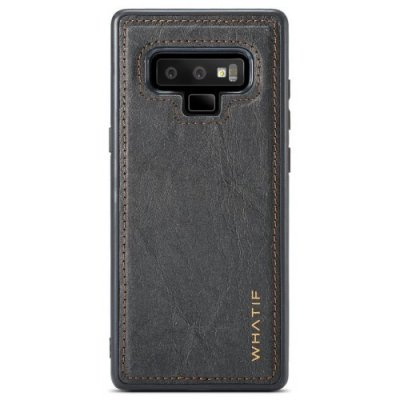 WHATIF Waterproof Soft TPU Back Cover Case DIY Feature for Samsung Note 9 - BLACK