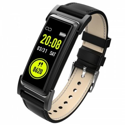 Kr03 Smart Band Built-In GPS Color Screen Heart Rate Monitor Ip68 Water Resistant - BLACK