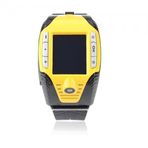 F3 Quad Band Watch Phone 1.3 Inch Touch Screen Camera MP3/MP4 with Bluetooth Earphone -Yellow