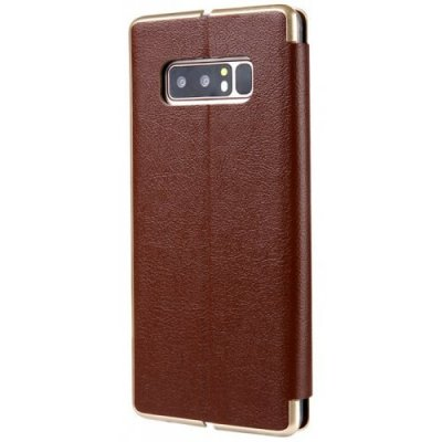 PU Leather Protective Phone Case Cover for Samsung Galaxy Note 8 - BROWN