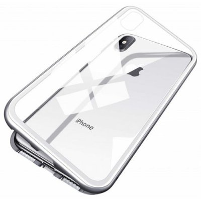 Full Body Slim Fit Ultra-Thin Case Magnetic Adsorption Technology for iPhone X - COOL WHITE
