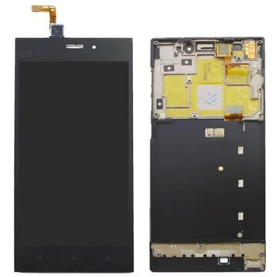 LCD Screen Frame Digitizer Full Assembly for Xiaomi 3 with Frame - BLACK