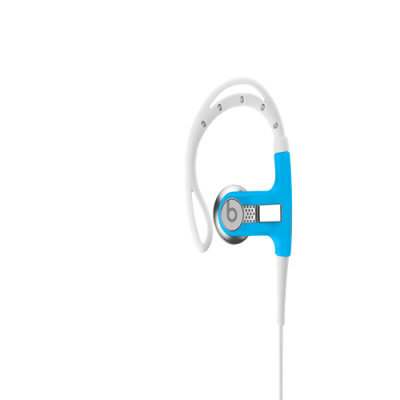 Blue Sport Headphones with Remote Control | Powerbeats from Beats by Dre Headphones
