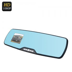 Full HD Rearview Mirror DVR - 1080P, 120 Degree View, 2.7 Inch Screen, G-Sensor, Motion Detection, Loop Recording