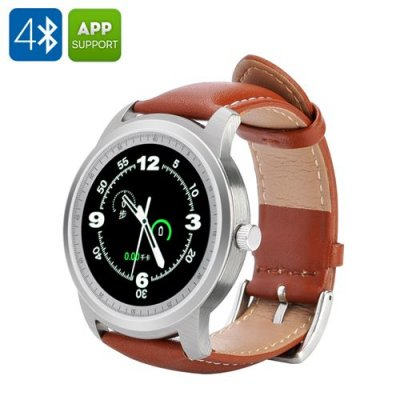 IMACWEAR Q1 Smartwatch - IP57 Waterproof, 1.3 Inch Display, Pedometer, Heart Rate, Music, Remote Camera Trigger (Silver)