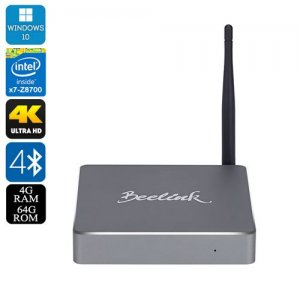 Beelink BT7 Windows 10 Mini PC - Quad Core 64Bit Intel Atom CPU, 4GB RAM, 64GB eMMC, Dual Band Wi-fi, 4K Support