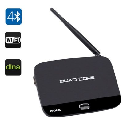 F7 Android TV Box - Rockchip 3128 Quad Core CPU, Bluetooth 4.0, 1GB+8GB, Wi-Fi, DLNA, Miracast, Airplay, KODI Support
