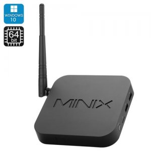 MINIX NEO Z64 Intel Mini PC - Windows 10, 64 Bit Z3735F Quad Core CPU, 2GB RAM, Wi-Fi, HDMI, XBMC Support