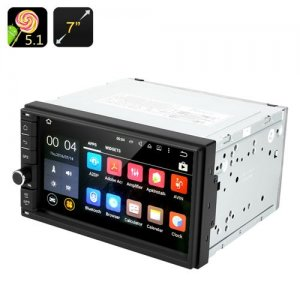 Android 9.1 Car Stereo - 2 DIN, 7 Inch Touch Screen, Bluetooth, GPS, Radio, Universal Fitting, 4x 45 Watt Output
