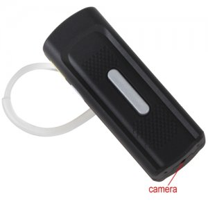 Multifunctional K8 720P Mini Bluetooth Headset Shaped HD Hidden Camera with Motion Detection & 10M Distance