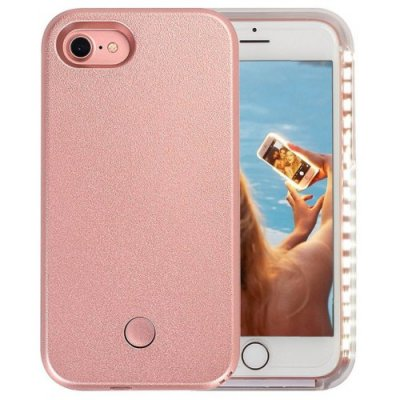 Light Up Luminous Selfie Flashlight Cover Case for iPhone 7 - 8 - ROSE GOLD