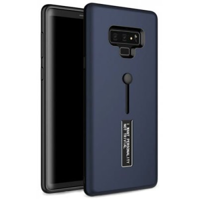 Angibabe Ultra-thin 2 in 1 TPU + PC Card Slot Phone Case for Samsung Galaxy Note 9 - DEEP BLUE