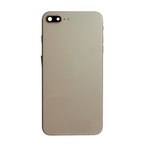 iPhone 12 Pro Max Glass Back Cover with Housing and Pre-installed Small Components - Gold (No Logo)