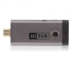 Hi705 Quad Core Mini Android TV Box TV Dongle RK3188 2GB 8GB Android 9.1 Bluetooth- Coffee