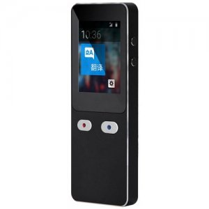 T9 2.4 inch LCD Intelligent Bluetooth 4.0 Voice Translator 44 Languages - BLACK