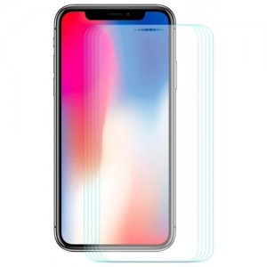 Hat - Prince 0.26mm 9H 2.5D Arc Tempered Glass Full Screen Protector for 5.8 inch iPhone XS - iPhone X 5pcs - TRANSPARENT