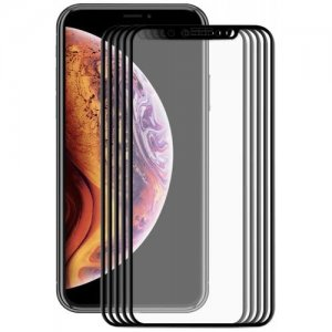 Hat-Prince Wear-resisting Tempered Glass Screen Protector for iPhone XS - iPhone X 5.8 inch 5pcs - BLACK
