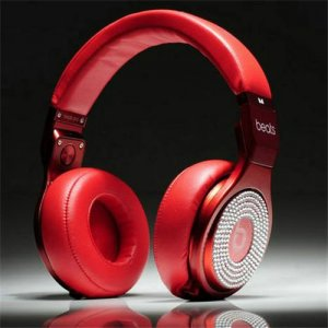 Beats By Dr Dre Pro High Performance Headphones diamond red