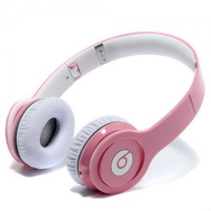 Beats By Dr Dre Solo High-Definition On-Ear Pink Headphones