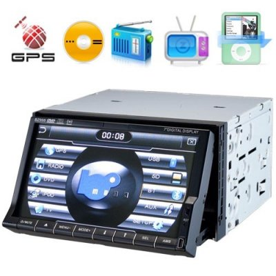 2 DIN Touch Screen Car DVD Theater+ GPS Navigation+ Entertainment System
