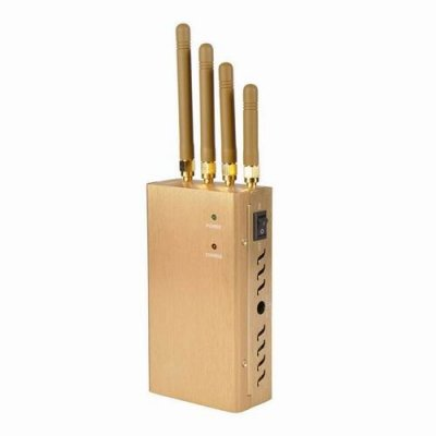 Portable Cell Phone & GPSL1 Jammer -15m Shielding Range