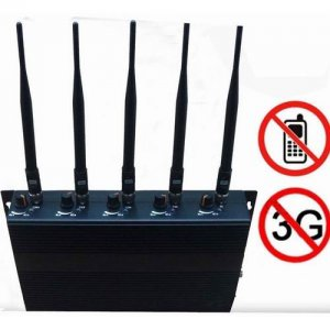 Adjustable 5-Band Cell Phone Signal Jammer