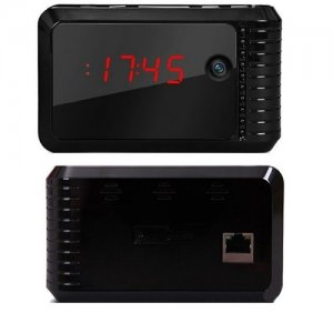 720P Wifi IP P2P Hidden DVR Camera Clock With IR Night Vision For Iphone and Android