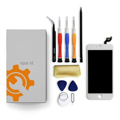 iPhone 6s Plus Screen Replacement Repair Kit + Tools + Repair Guide - White