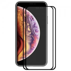 Hat - Prince 2.5D 0.2mm 9H Tempered Glass Full Screen Protector for iPhone XS Max 2pcs - BLACK