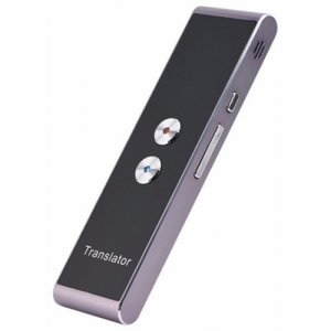 T8 Real Time Multi Language Translator Speech- Text Translation Device With APP - SMOKEY GRAY