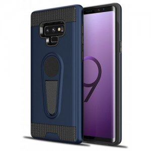 Cover Case for Samsung Galaxy Note 9 Dual Layer Bumper Grip Protective - DEEP BLUE