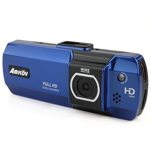 Amkov ZOOM-007 2.7 Inch Motion Detection Car DVR Digital Camcorder for Drivers -Blue