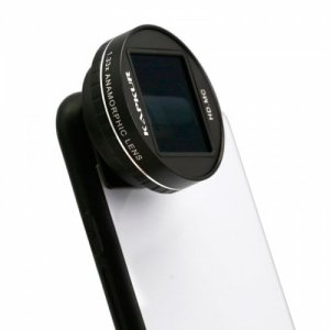 KAPKUR Anamorphic Lens 2.55-1 Widescreen Film Making 1.33X for iPhone XS - BLACK