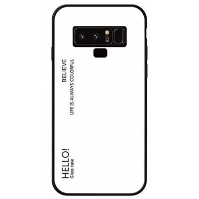 Gradient Tempered Glass Case for Samsung Galaxy Note 9 - WHITE