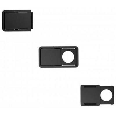 3Pcs WebCam Shutter Camera Lens Protect Privacy Cover - BLACK