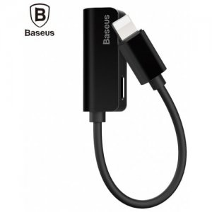Baseus L32 8 Pin to 3.5mm Audio Adapter for iPhone 7 - 7 Plus - BLACK