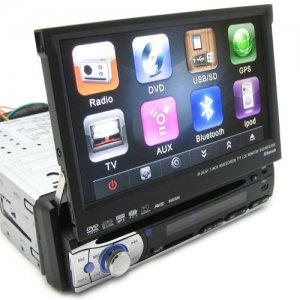7 Inch TFT-LCD Touchscreen HD Car Multimedia DVD Support GPS and FM Radio