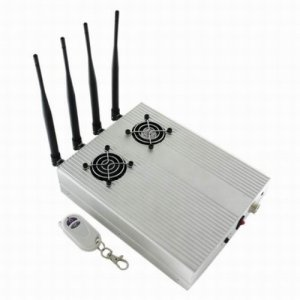 New Style High Power Desktop Cell Phone Jammer - CDMA/3G/GSM Blocker with 2 Cooler Fans